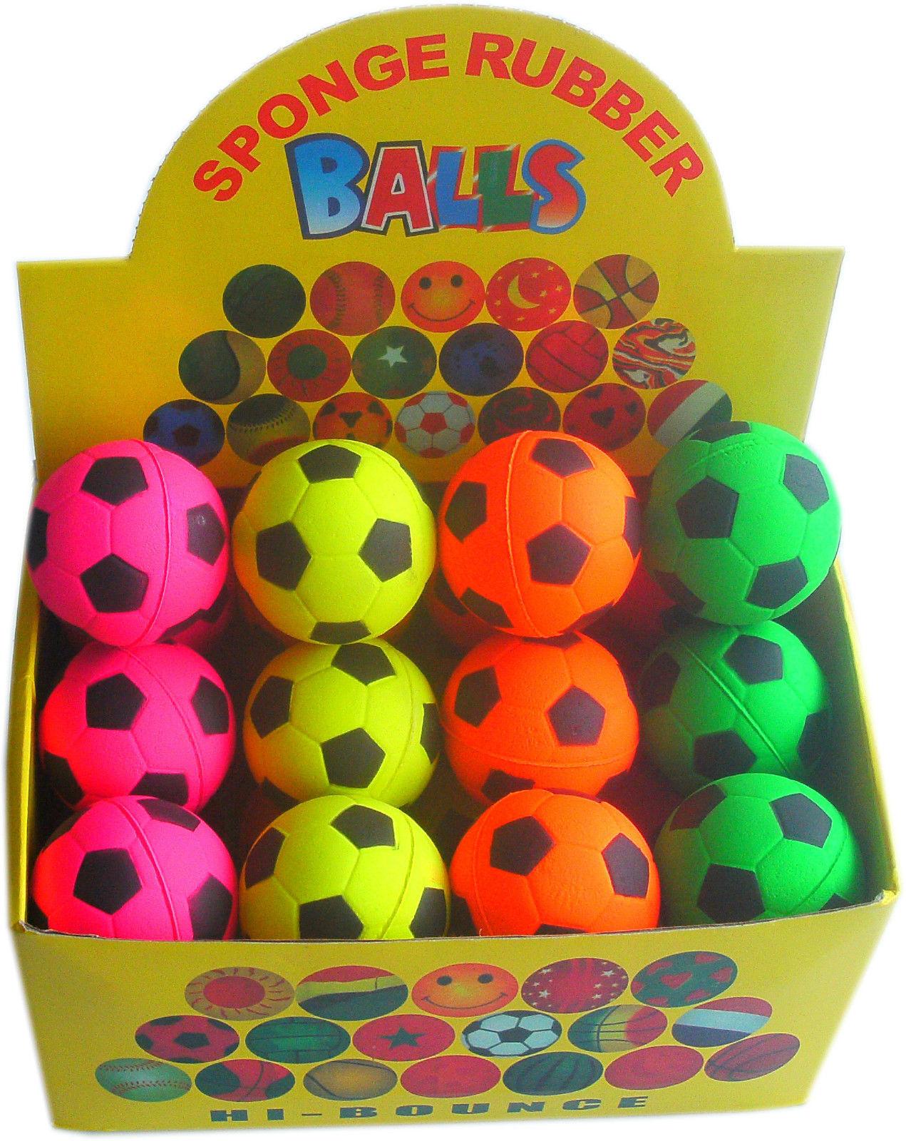 2 x scatole da 24 x Hi-Rimbalzo SFERE in gomma morbida ideale per cani. Calcio Design