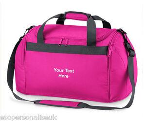 1d42adb92b Personalised MINI HOLDALL Travel Gym Kit Bag Your Name Slogan Girls ...