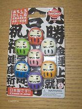 NEW LATEST CRAZE IWAKO NOVELTY ERASERS RUBBERS JAPANESE DARUMA SET OF 6