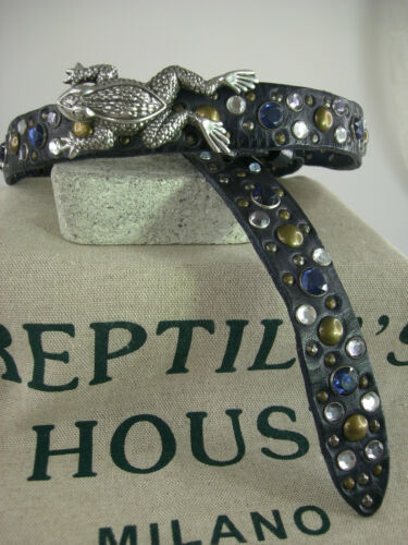 Original Reptile/'s House Gürtel mit Schliesse Sattelleder aufwendige Deco neu RH