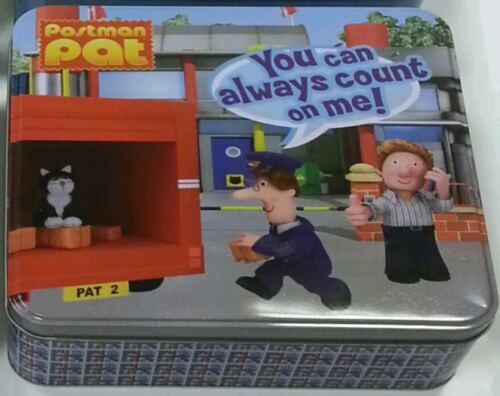 New * Official Postman Pat Square Tin Storage Box