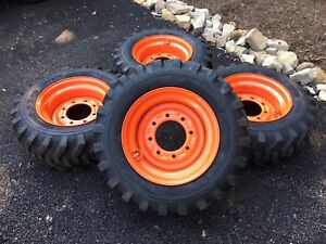 Details about 4 NEW 10-16 5 Skid Steer Tires/wheels/rims - for Bobcat S450,  S510, S530 & S570