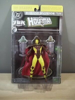 """DC DIRECT AMAZING ANDROIDS /""""HOURMAN/"""" JLA ACTION FIGURE MIB NEW HOUR OF POWER"""