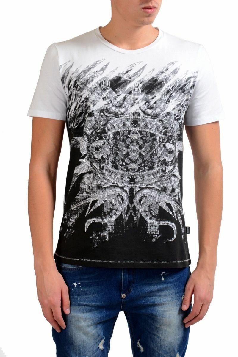 Just Cavalli Uomo Manica Corta Illustrato Girocollo T-Shirt TAGLIA S M 2XL