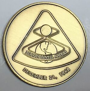 N308       NASA  SPACE  COIN /  MEDAL,  APOLLO   8