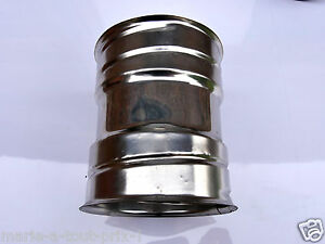 raccord inox rigide pour tuyau flexible femelle 100mm vacuation fum es poele ebay. Black Bedroom Furniture Sets. Home Design Ideas
