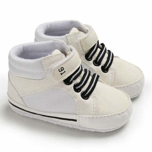 Infant Newborn Baby Boy Girl Pre-Walker Soft Sole Winter Warm Shoes Trainers New