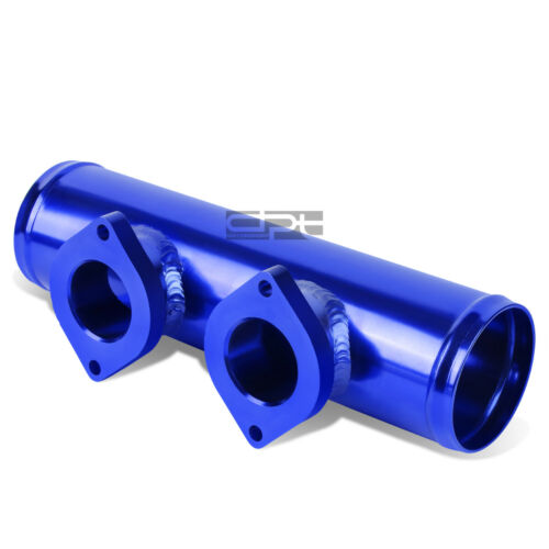 """DUAL TYPE RS//S STYLE 2.5/"""" TURBO CHARGER BLOW OFF VALVE FLANGE ADAPTER PIPE BLUE"""