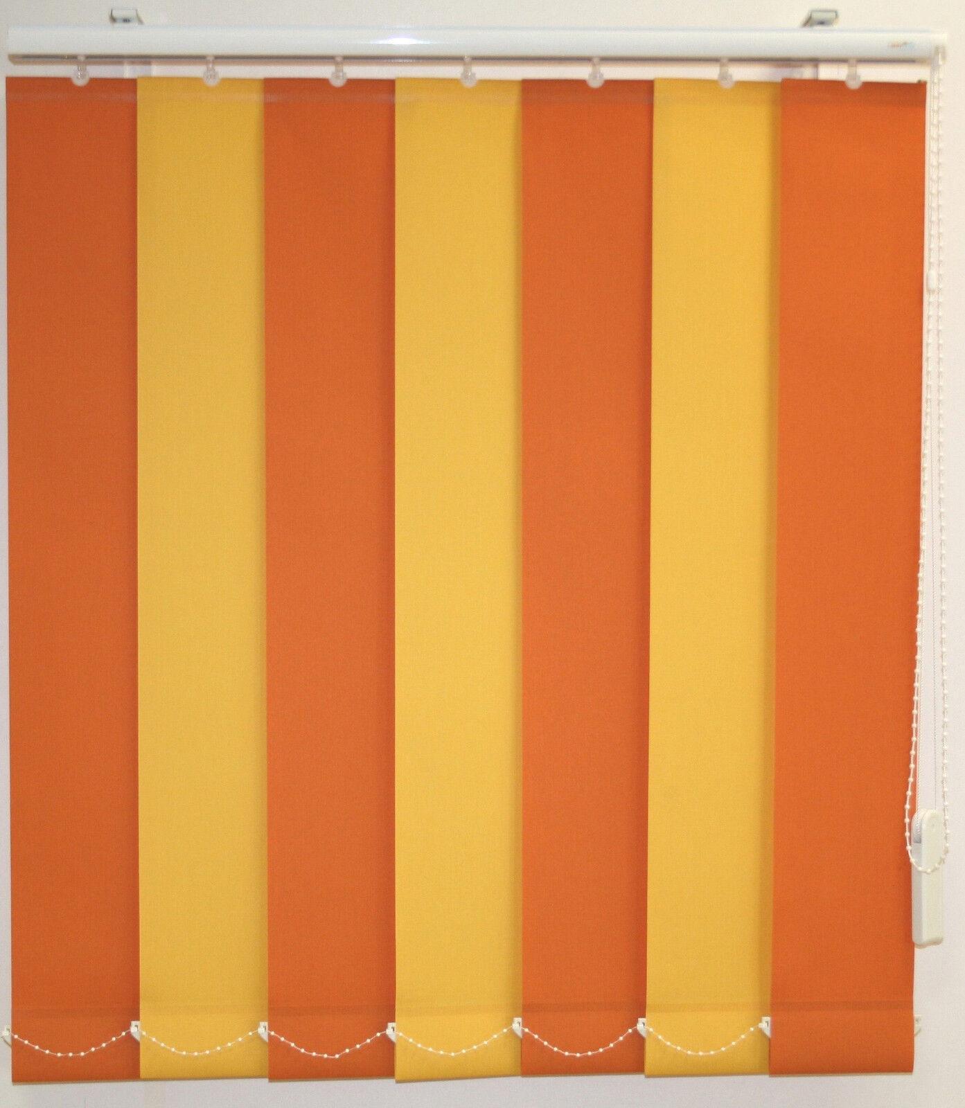 Grünikalanlage Lamellenvorhang Lamellenvorhang Lamellenvorhang gelb-Orange Büro Gardine  B H 170 x 285 cm 3ce06a