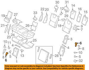 volvo oem 10-17 xc60 rear seat-lock right 39852162 | ebay