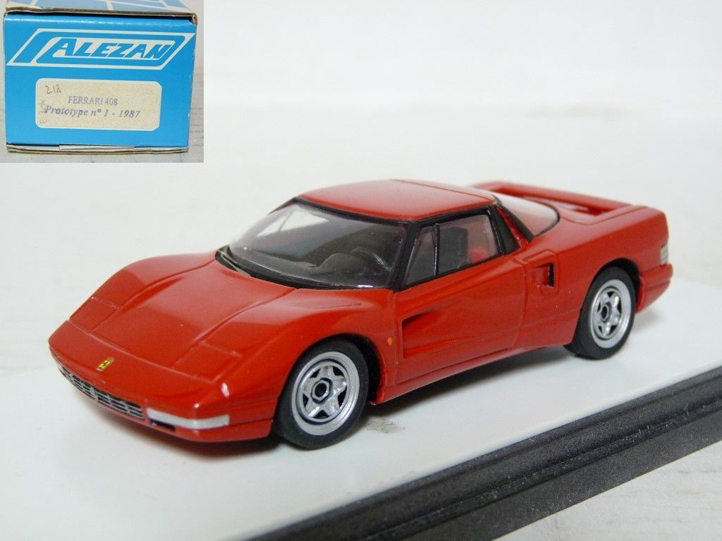 Alezan 1 43 1987-1989 Ferrari 408 408 408 Concept Resin Handmade Model Car Kit Set of 2 2521a9