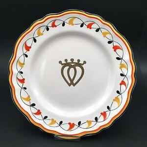 Assiette-Coeur-Vendeen-Couronne-Ceramique-Signe-RL-Sacred-Heart-Crown-Plate