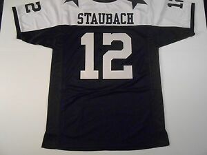 Dallas-Cowboys-Roger-Staubach-UNSIGNED-CUSTOM-Thanksgiving-Jersey-XL