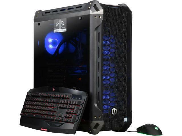 CyberpowerPC Gaming Desktop Gamer Panzer Limited 8327TLQ Intel Core i7 8th Gen 8