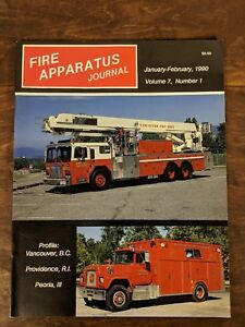 Fire Apparatus Journal Volume 7, Number 1, January-February 1990