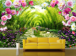 3D Garten Bambus Hirsch 864 Tapete Wandgemälde Tapete Tapeten Bild Familie DE