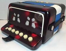 1960's Vintage SCHYLLING TOY ACCORDION Children's Toy Musical Instrument - Retro