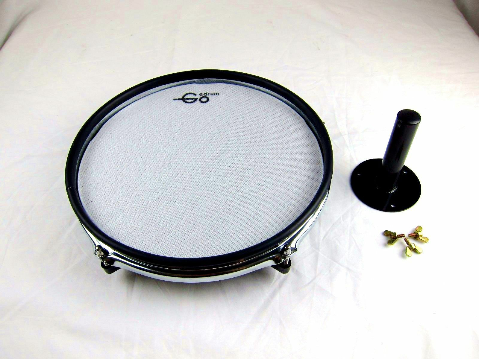 Goedrum 10  Electronic Drum Pad with Rim Silencer   Single Trigger   Mesh Head