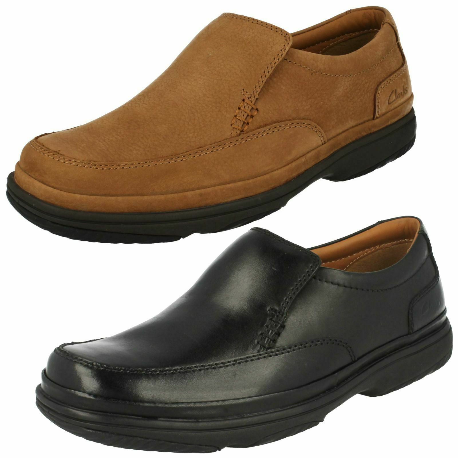 Mens Clarks Flexlight Wide Fitting Slip On shoes - Swift Step