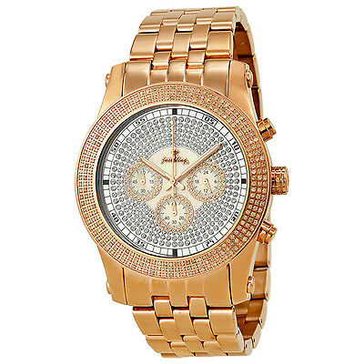 JBW Chronograph Krypton Diamond Rose Gold-tone Mens Watch JB-6219-270-B