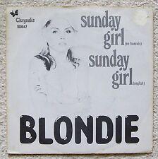 "BLONDIE 7"" vinyl SUNDAY GIRL (en francais) Dutch Issue Punk"