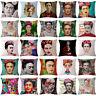 17''Linen/Cotton Frida Kahlo Print Cushion Cover Pillow Case Sofa Bed Home Decor