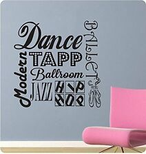 "24"" Dance Sayings Collage Girl Tapp Ballet Wall Decal Sticker Home Art Sports"