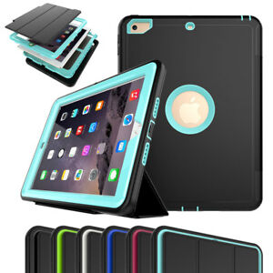 Heavy-Duty-Stand-Hard-Case-For-iPad-9-7-6th-5th-Generation-with-Screen-Protector