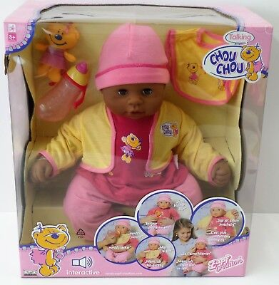Friendly Zapf Creation Talking Chou Chou - Baby Puppe 2 Sprachen - 2006 - 48cm- Neu New