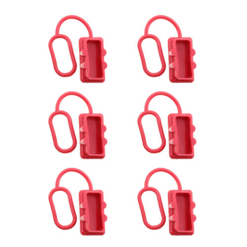 6 Pieces Dust Cover End Cap Set for   175A Plug Connector Red Rubber