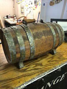 18-x9-Antique-USA-Wood-Whiskey-Barrel-W-handle-Gem-Primitive-Bourbon-Keg-USA