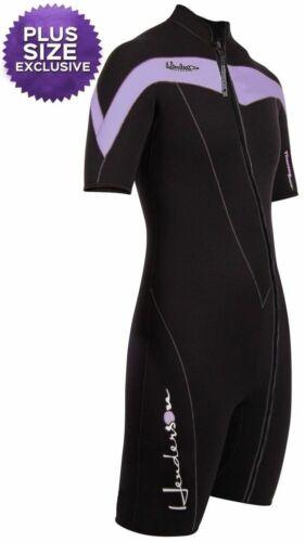 3mm Women/'s Henderson Thermoprene Shorty Springsuit Front Zip