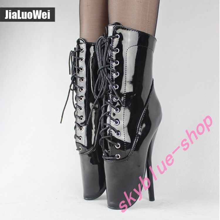 18cm new Custome-made Ladies Sexy Clubwear Bar Ankle Boots Ballets Heel Sexy Sz