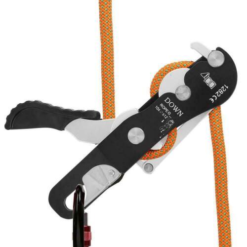 Climbing Descender Self-braking Stop Rope Clamp Grab  Climb Spare Part