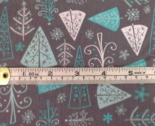 Winter Wonderland Tela árboles Blanco Y Gris,100/% cotton,6141505-3 fat1//4 Azul