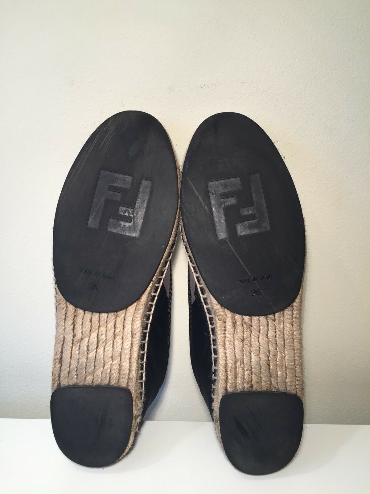 Authentic Authentic Authentic Fendi Espadrille Pour Femme Chaussures Taille 36 8ce728