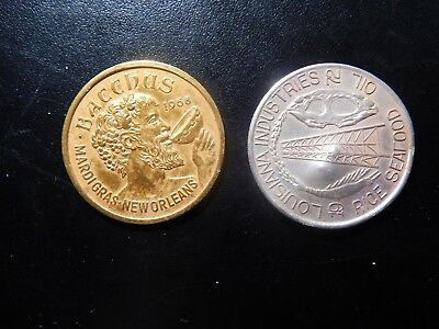 Zz812xdx Punctual Timing Coins & Paper Money Bacchus Mardi Gras And Northshore Carnival Club Tokens