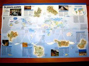 Cartina Mondo National Geographic.Cartina Lo Stato Del Pianeta Un Mondo Trasformato National Geographic Ebay