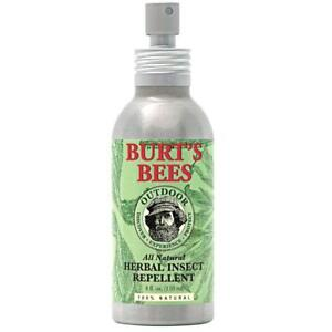 Burt S Bees All 4 Oz Natural Herbal Insect Repellent Bug Outdoor Spray