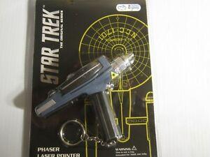 Star Trek Mini Phaser Laser Pointer Keychain Sealed in Package Red Laser
