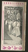 Programme De La Opera Teather Opera E Garbin M Sammarco 1904