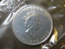 1999 1 oz SILVER MAPLE LEAF $5 CANADIAN CANADA COIN MYLAR POUCH SEALED