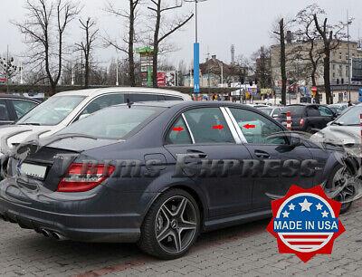 2008-2014 Mercedes C-Class//W204 6Pc Chrome Pillar Post Stainless Steel Trim