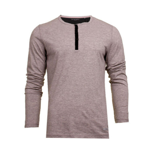 Mens Long Sleeved Buttoned T Shirt 69Marble By Brave Soul