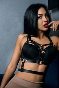 Image Is Loading New Sexy Women Pu Leather Chest Body Bondage