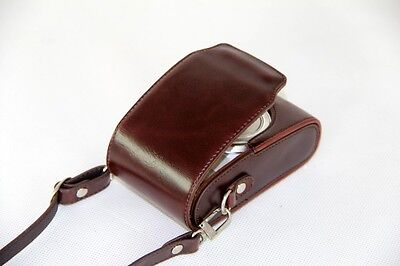 Coffee leather case bag pouch to Fujifilm Finepix JX680 T400 T350 XQ1 camera T6