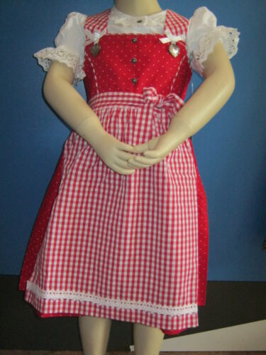 pink neuf 80 86 92 104 116 122 128 134 Enfants Isar costumes du robe rouge O