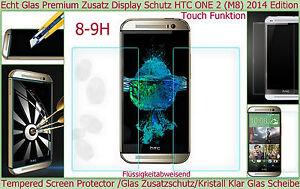 Temperato Screen Vetro Pellicola Protettiva Display f HTC One (M8) 2014 Vero