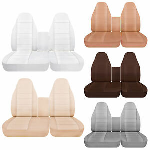 Surprising Details About Afcc 40 60 Highback Cotton Car Seat Covers Solid Colors Fits 1998 2003 Ford F150 Lamtechconsult Wood Chair Design Ideas Lamtechconsultcom