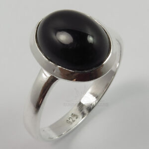 Tiny Small Cute Ring All Size 925 Sterling Silver Natural BLACK ONYX Gemstone